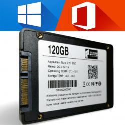 SSD Win 10 + Office 120gb